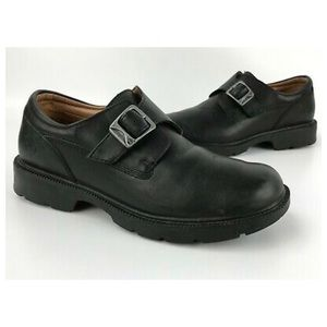 Timberland black leather monk strap loafers 7.5